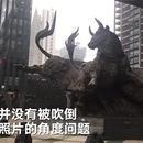 深交所门前铜牛被台风吹倒?消息不实拍照角度问题