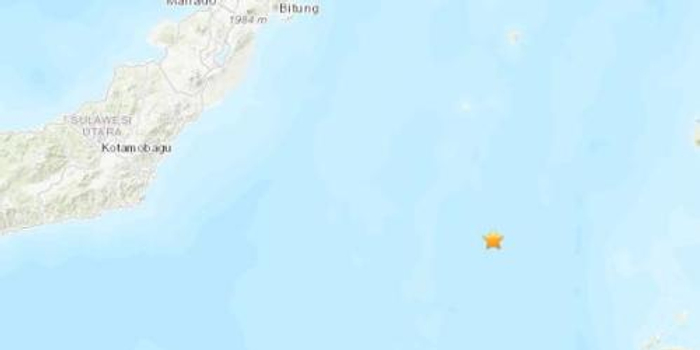 印尼东部附近海域发生5.2级地震 震源深度44公里