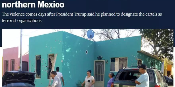 墨西哥政府办公楼被重火力打成筛子 14死多人失踪