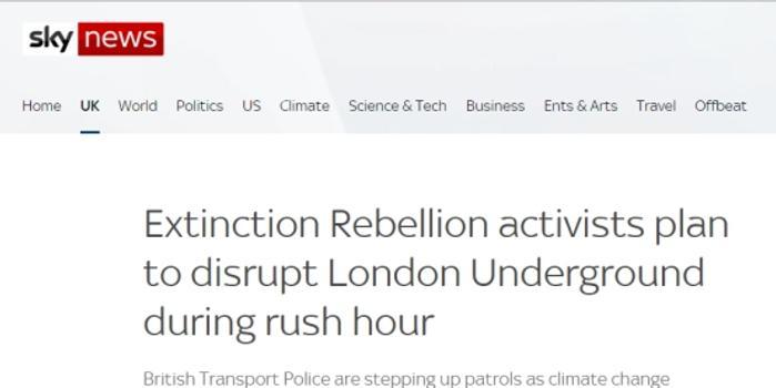 示威者又計劃早高峰堵地鐵 倫敦市長強烈譴責