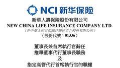 万峰辞任新华保险董事长等职务 接班人未确定