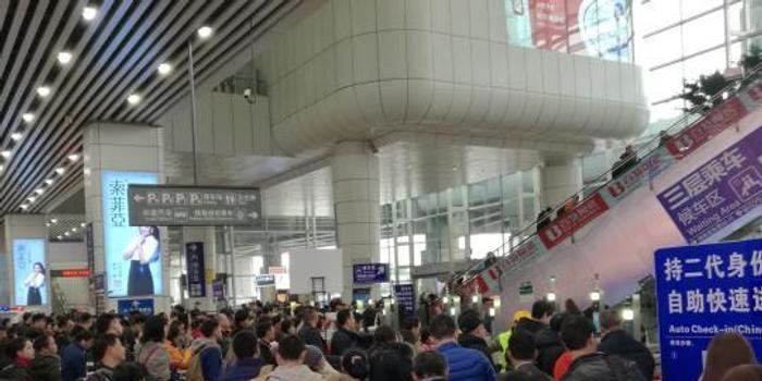 广州南站春运日均客流量和停靠动车数量全国第