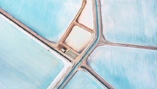 看图5分钟,降温2小时的澳洲蓝色盐田