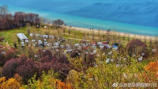 马其顿奥赫里德湖岸的沿线风景