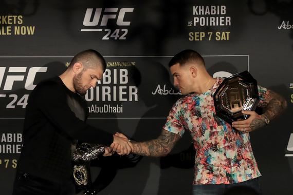 卡比布与普瓦里尔在UFC242新闻发布会中首次碰面