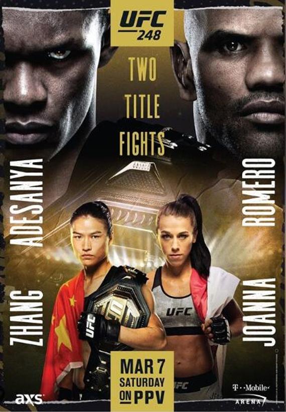 UFC248前瞻:阿迪萨亚对决罗梅罗 张伟丽首场卫冕战