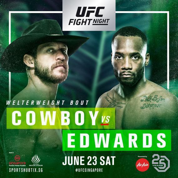 2018年6月23日UFC格斗之夜132期 - 直播[视频] Cowboy vs. Edwards