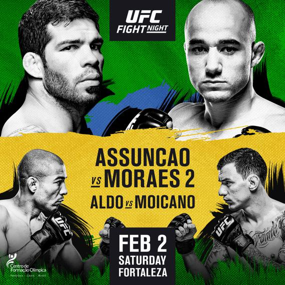 UFC格斗之夜144前瞻:阿松桑二战莫拉斯 奥尔多玛雅同场