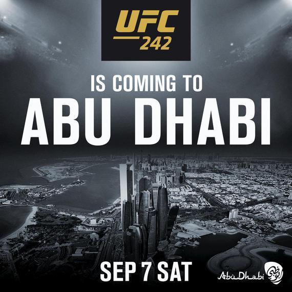 UFC242重返阿布扎比 全新战略合作确保未来5年精彩不断