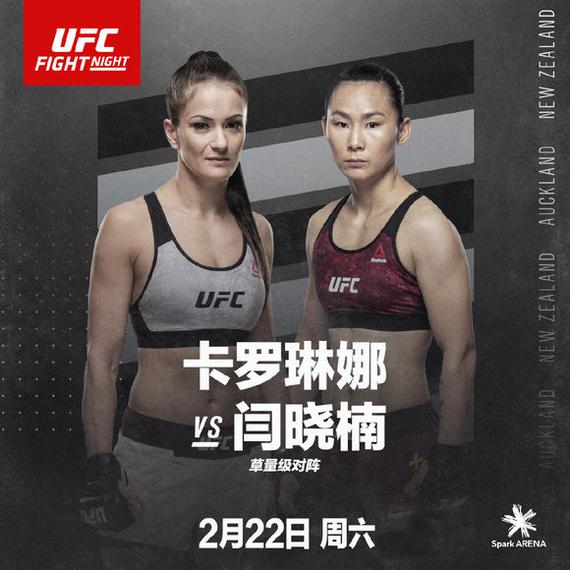 闫晓楠UFC格斗之夜168对决前冠军挑战者卡洛琳娜