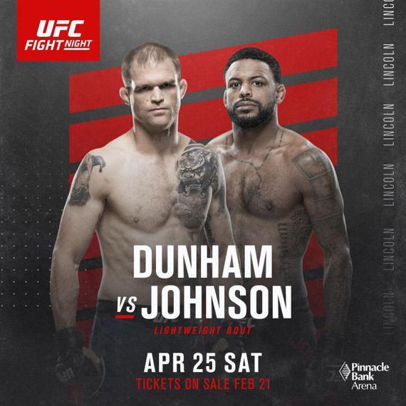 邓纳姆将于UFC格斗之夜173复出 对决打击系高手约翰逊