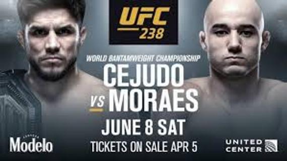 塞胡多升重 UFC238战莫拉斯争夺置空雏量级冠军