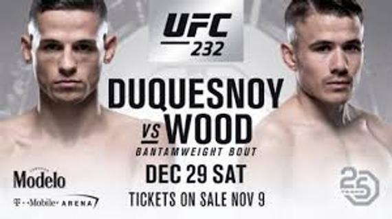 UFC伦敦赛新增两对阵 伍德VS奎尼奥内兹雏量级新星碰撞