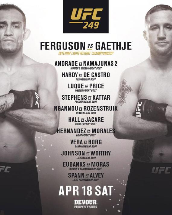 UFC249迎来新头条 弗格森VS加瑟基争夺轻量级临时冠军