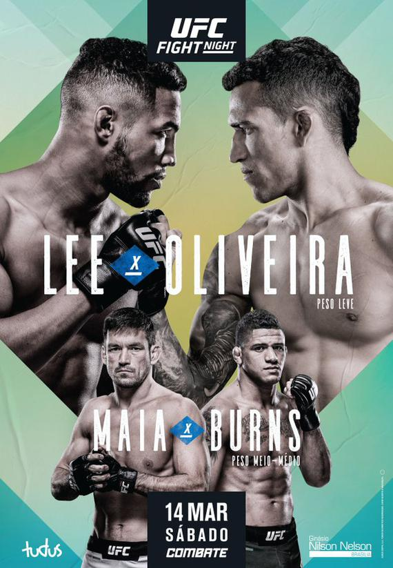 UFC格斗之夜170前瞻:李VS奥利维拉轻量级精英对决