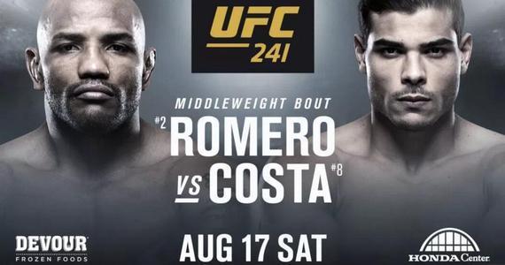 罗梅罗VS科斯塔的力量对决将于UFC241上演