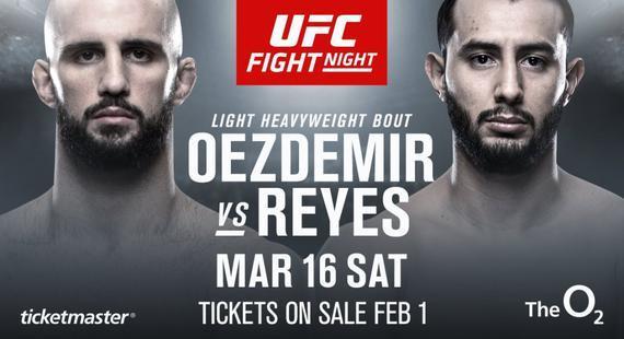 奥茨德米尔将出战UFC伦敦赛 对决10战全胜新星雷耶斯