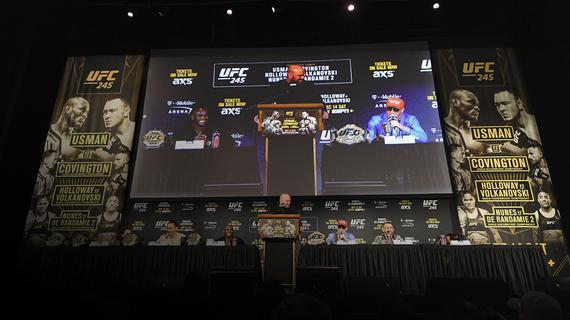 UFC245新闻发布会直击:冠军三连击领衔2019最后一战