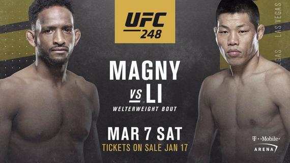 李景亮携手张伟丽出战UFC248 对手锁定尼尔-马格尼