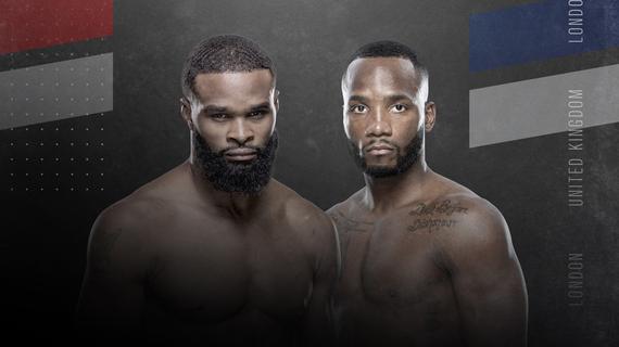 ufc金波-泰伦-伍德利VS莱昂-爱德华斯次中对决UFC伦敦赛开战