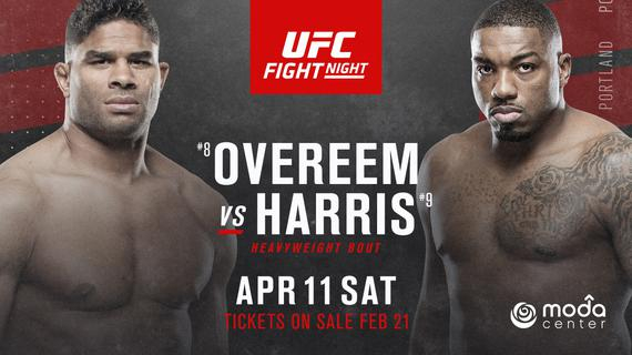 欧沃瑞姆VS哈里斯将领衔UFC格斗之夜172