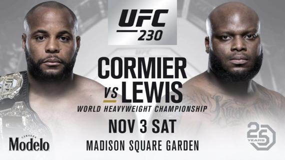 UFC230的头条敲定为科米尔VS刘易斯的重量级冠军战