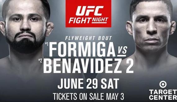弗米加VS贝纳维德兹挑战权之争UFC on ESPN 3上演