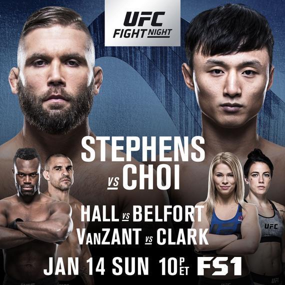 UFC Fight Night 124 史蒂芬斯 VS 催斗浩