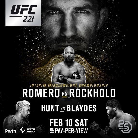UFC 221 罗梅罗 VS 洛克霍德