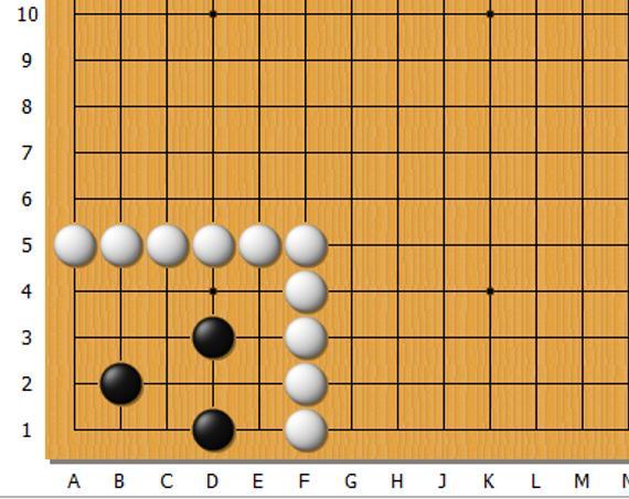 黑先,参考选点a:B?4  b:B?3  c:A?3  d:C?3