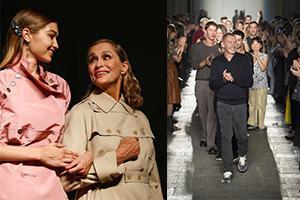 [秀场]Bottega Veneta吉吉和劳伦携手压轴