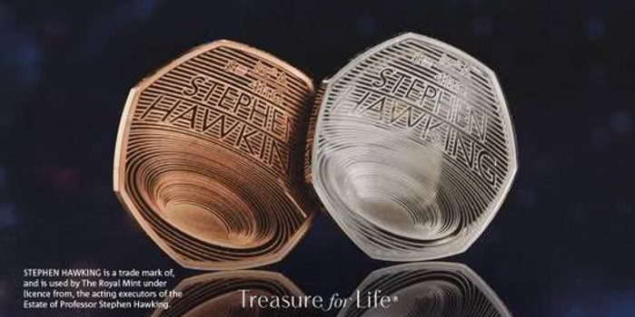 """霍金逝世一周年,英国皇家铸币厂发售""""黑洞""""纪念币"""