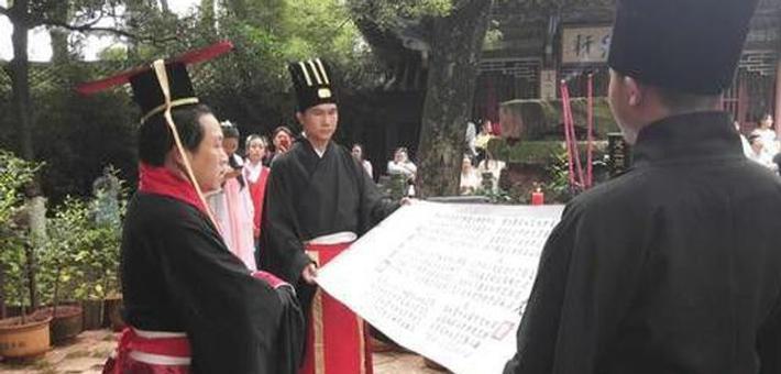 """600位汉服男女在昙华寺""""古法""""过端午"""