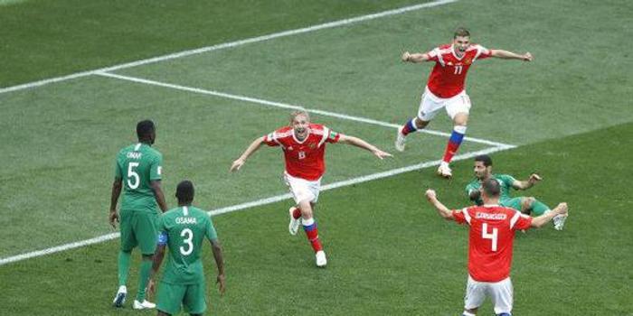 俄罗斯5-0大胜沙特 创世界杯揭幕战历史最大分