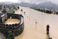 临海古城昨被淹到两层楼高 目前洪峰已过救援仍继续
