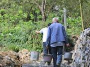 杭州三位老人整修废弃古道 因为路不平经常有人摔跤