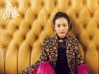 王鸥蕾丝裙配大衣慵懒性感