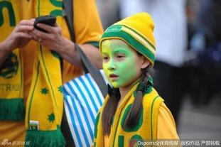 美女球迷观战亚洲杯