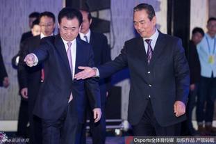 蔡振华王健林出席中国杯发布会