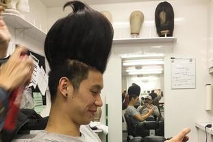 林书豪新发型突破天际