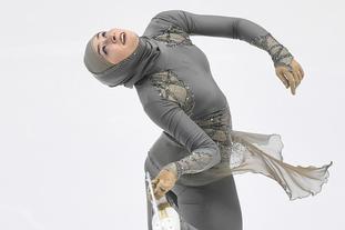 阿联酋美女参加花滑比赛