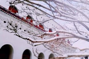 绝美的五台山雪景