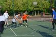 丁立人赛前打球放松
