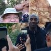 图文-科比瓦妮莎携全家游迪士尼 男球迷自拍