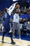 图文-NBA全明星训练 杜兰特遭遇封盖