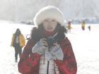 林志玲雪中美如画似冰雪仙子