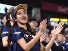 韩国棒球啦啦队美女纤腰细腿