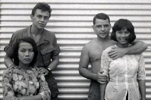 越战南越美女慰劳美军