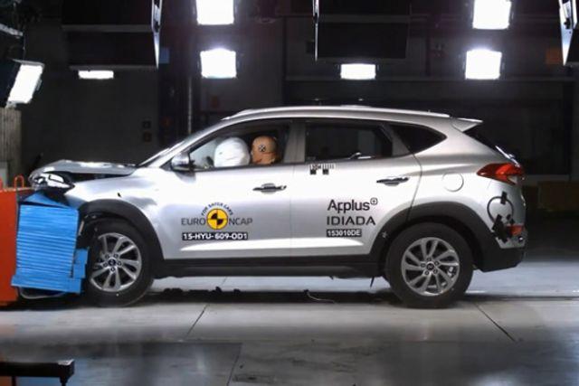 视频:新现代途胜获得欧洲碰撞测试5星评价