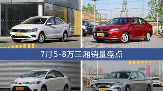 7月5-8万三厢车型销量数据揭晓,用户愿意为哪些车买单?